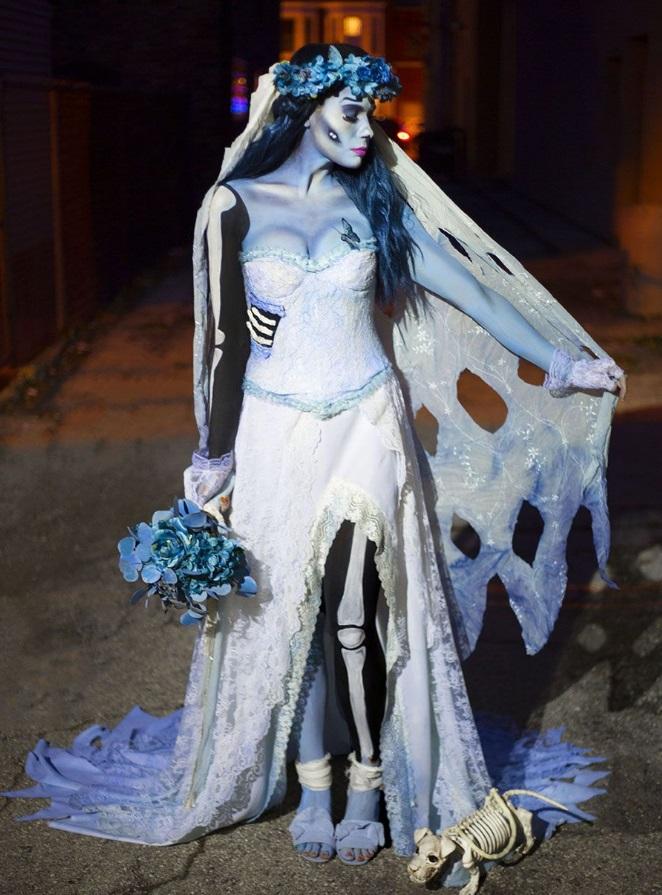 DIY Emily the Corpse Bride homemade costume