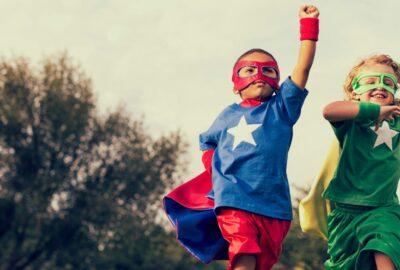 Kids as super heroes